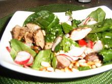 Spinatsalat mit Hähnchenleber - Rezept - Bild Nr. 6560