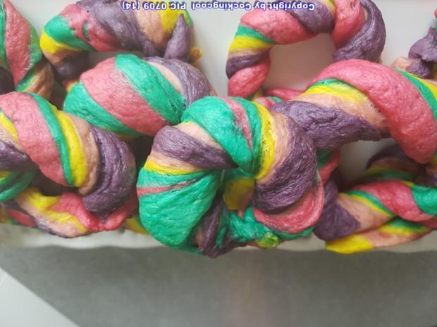 Regenbogen Bagel`s  (die süsse Variante) - Rezept - Bild Nr. 6598