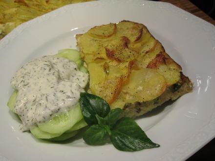 Pikantes Backen: Lauch-Kartoffel-Kuchen - Rezept - Bild Nr. 6602