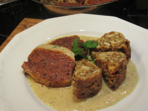 Fleisch: Gebackene Weißwurst mit Brez´nknödeln und Senfsoße - Rezept - Bild Nr. 6603