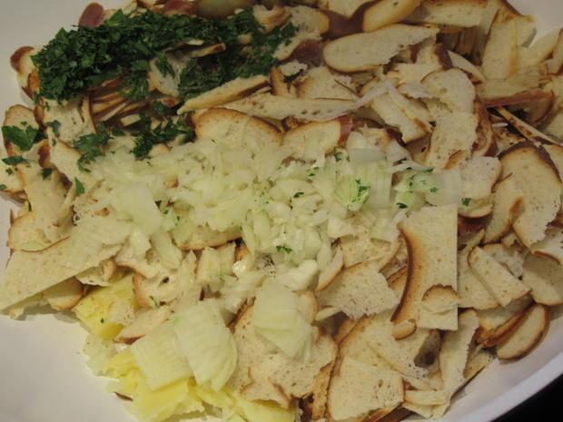 Fleisch: Gebackene Weißwurst mit Brez´nknödeln und Senfsoße - Rezept - Bild Nr. 6607