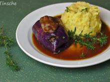 Rotkohlrouladen mit Reh-Speck-Schalotten-Preiselbeer-Füllung - Rezept - Bild Nr. 6604