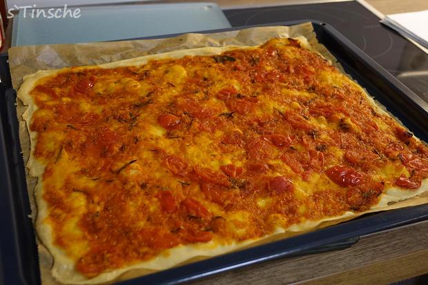 Knusprige Hähnchen-Paprika-Pizza - Rezept - Bild Nr. 6630