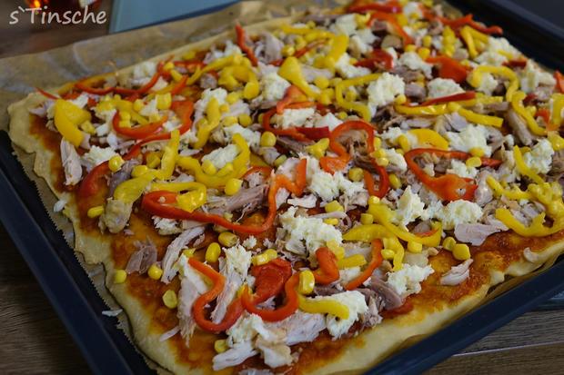 Knusprige Hähnchen-Paprika-Pizza - Rezept - Bild Nr. 6631