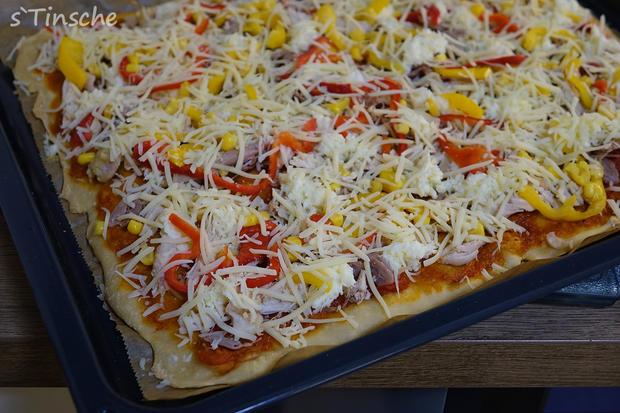 Knusprige Hähnchen-Paprika-Pizza - Rezept - Bild Nr. 6632