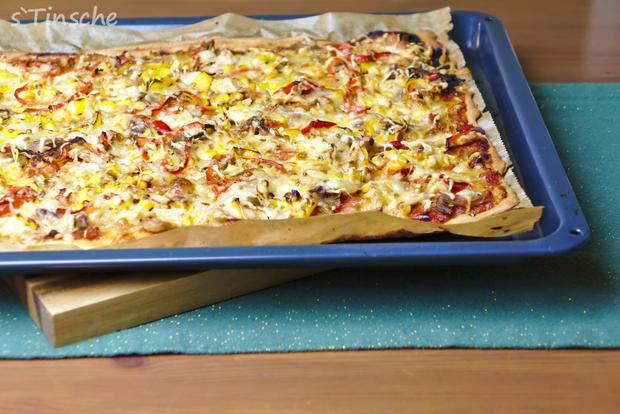 Knusprige Hähnchen-Paprika-Pizza - Rezept - Bild Nr. 6633