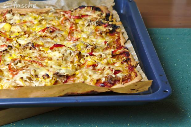 Knusprige Hähnchen-Paprika-Pizza - Rezept - Bild Nr. 6635
