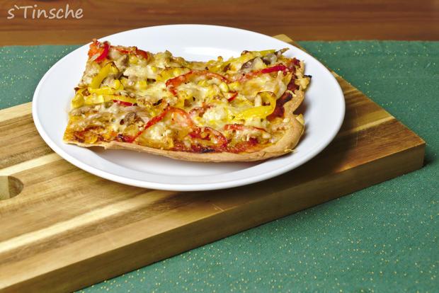 Knusprige Hähnchen-Paprika-Pizza - Rezept - Bild Nr. 6638