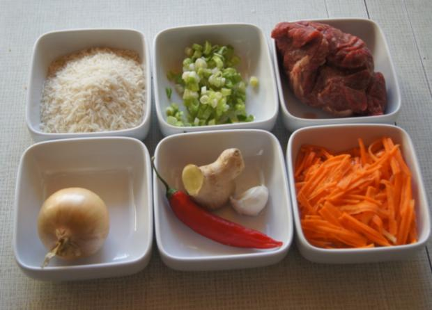 Chinesisches Rindfleisch mit Gemüse und Basmati Reis - Rezept - Bild Nr. 3