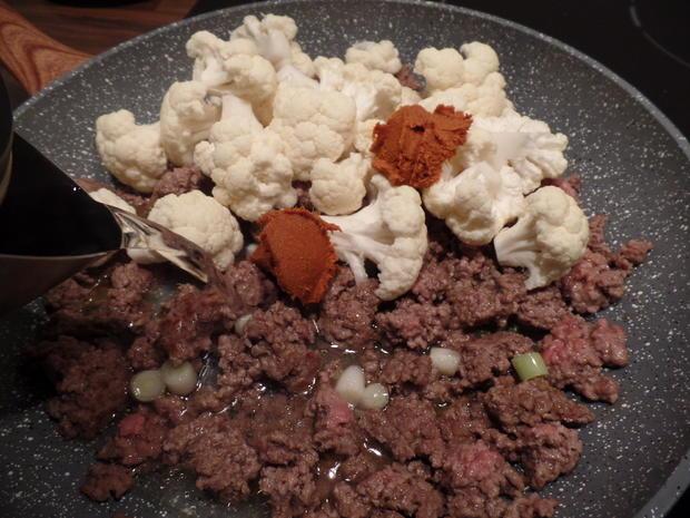 Blumenkohl-Hackfleisch-Curry mit Reis - Rezept - Bild Nr. 6639