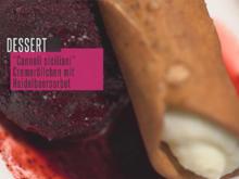 Cannoli Siciliani mit Heidelbeerensorbet - Rezept - Bild Nr. 2
