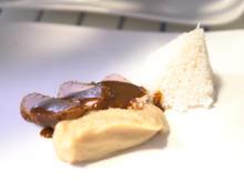 Adobo mit Bohnenpüree, Reis und karamellisierten Süsskartoffeln - Rezept - Bild Nr. 2
