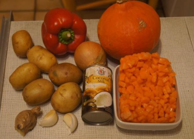 Kürbis-Gemüse-Eintopf mit Schinkenwürfeln - Rezept - Bild Nr. 6664