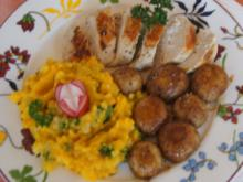 Hähnchenbrustfilet mit Kürbis-Sellerie-Stampf und Champignons - Rezept - Bild Nr. 6681