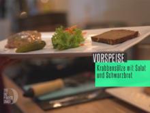 Krabbensülze mit Frankfurter Soße, Schwarzbrot und frischem Salat - Rezept - Bild Nr. 2