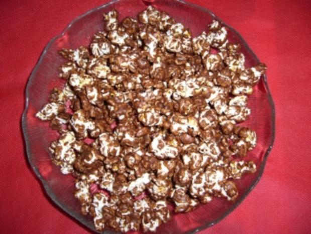 Snack süß: Popcorn badet in Schokolade - Rezept - Bild Nr. 3