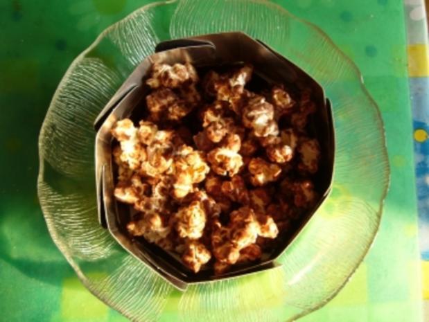Snack süß: Popcorn badet in Schokolade - Rezept - Bild Nr. 2