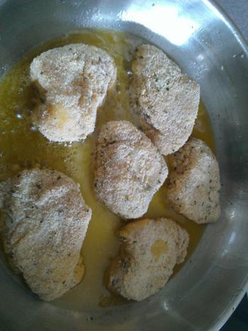 Biggi´s Fisch = Seeteufel (paniert) mit diversen Beilagen - Rezept - Bild Nr. 6725