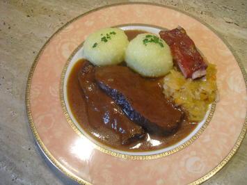 Hirschbraten -mit Knödel- und Dorschenkraut Beschreibung folgt - Rezept - Bild Nr. 6725