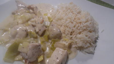 Huhn in Prosecco-Rahm-Soße mit Reis - Rezept - Bild Nr. 6739