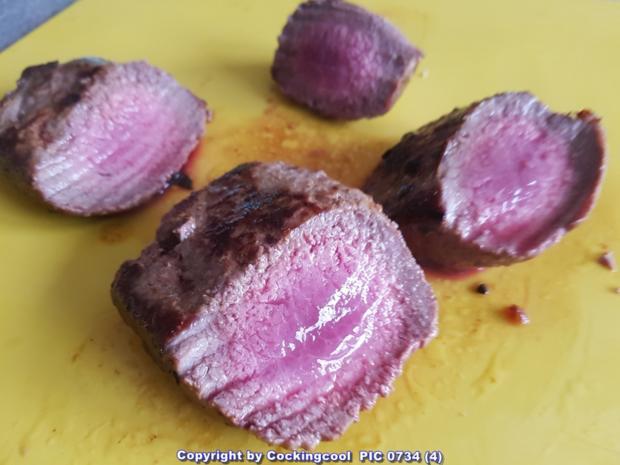Biggi`s Fleisch = Lammlachs mit Erbskastanienpürreè - Rezept - Bild Nr. 6743