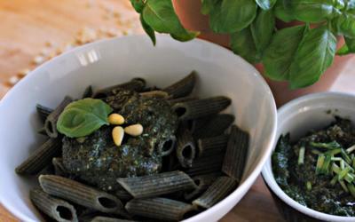 Basilikum-Pesto mit Algen und Vollkornnudeln - Rezept - Bild Nr. 6760