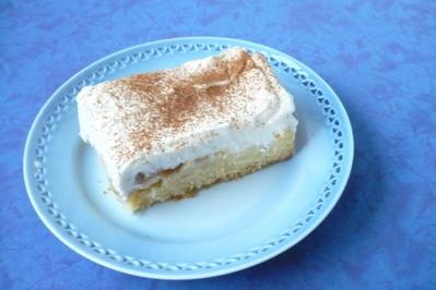 Rezept: Apfelkuchen mit Schmandhaube