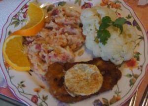 Minutenschnitzel mit Blumenkohl und Rote Beete-Kartoffelstampf - Rezept - Bild Nr. 6777