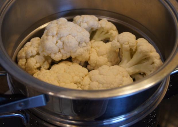 Minutenschnitzel mit Blumenkohl und Rote Beete-Kartoffelstampf - Rezept - Bild Nr. 6782
