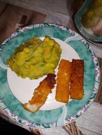 Kartoffel - Kaisergemüse - Püree mit Fischstäbchen - Rezept - Bild Nr. 6777