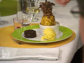 Brownies (alternativ Pancakes) mit gebackener Ananas - Rezept - Bild Nr. 2