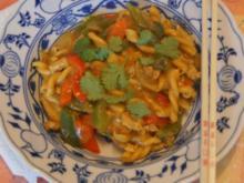 Puten-Curry-Nudel-Wok - Rezept - Bild Nr. 6786