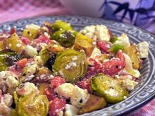 Warmer Bratkartoffelsalat mit ofengeröstetem Rosenkohl - Rezept - Bild Nr. 2