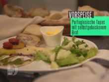 Tapas: Dattelbrot, Baguette, Aioli, Boquerones, Chorizo und Salatbeilage - Rezept - Bild Nr. 2