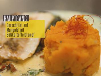Dorschfilet auf Mangold mit Süßkartoffelstampf - Rezept - Bild Nr. 6787