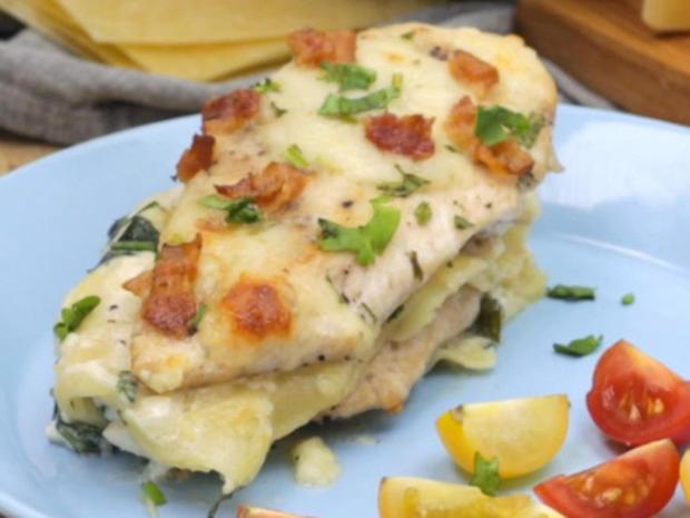 Chicken Alfredo Lasagne - Rezept - Bild Nr. 2