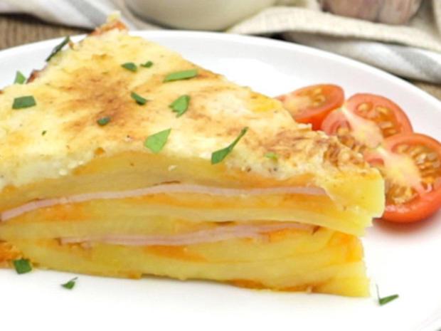 Herzhafter Kartoffel-Käse-Kuchen - Rezept - Bild Nr. 2