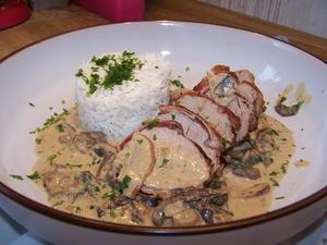 Lende vom Schwein mit Steinpilz-Soße und Reis - Rezept - Bild Nr. 6821