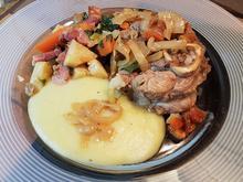 Ossobuco (Kalbshaxe) mit frischem Kartoffelstock (Kartoffelpüree) - Rezept - Bild Nr. 6834