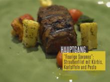 """""""Feurige Savanne"""": In Raucharomaten gegrilltes Straußenfilet - Kräuterpesto - Rezept - Bild Nr. 2"""
