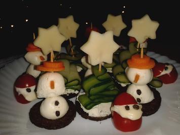 Weihnachtliche Häppchen - Rezept - Bild Nr. 6832