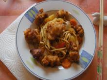 Ausgebacke Putenbrust mit Mie-Nudeln-Gemüsemix im Wok - Rezept - Bild Nr. 3