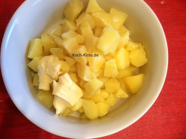 Leberkäse mit Spiegelei und Kartoffelmus - Rezept - Bild Nr. 6863