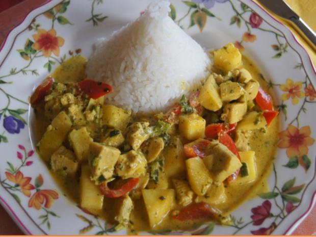 Indisches Hähnchenbrustfilet-Curry im Wok mit Jasmin-Reis - Rezept - Bild Nr. 6872