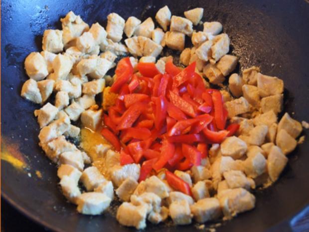 Indisches Hähnchenbrustfilet-Curry im Wok mit Jasmin-Reis - Rezept - Bild Nr. 6893