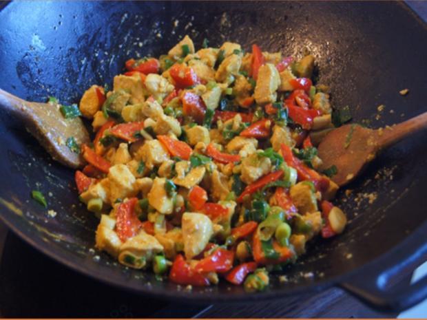 Indisches Hähnchenbrustfilet-Curry im Wok mit Jasmin-Reis - Rezept - Bild Nr. 6896