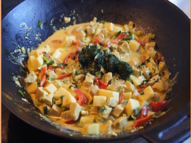 Indisches Hähnchenbrustfilet-Curry im Wok mit Jasmin-Reis - Rezept - Bild Nr. 6900