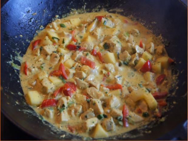 Indisches Hähnchenbrustfilet-Curry im Wok mit Jasmin-Reis - Rezept - Bild Nr. 6902