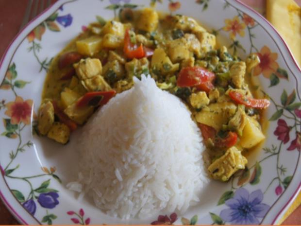 Indisches Hähnchenbrustfilet-Curry im Wok mit Jasmin-Reis - Rezept - Bild Nr. 6903