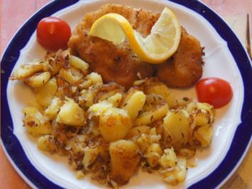 Alm-Schnitzel mit herzhaften Bratkartoffeln - Rezept - Bild Nr. 2